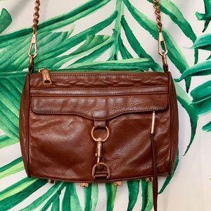 Rebecca Minkoff MAC Crossbody Bag Rose Gold Brown